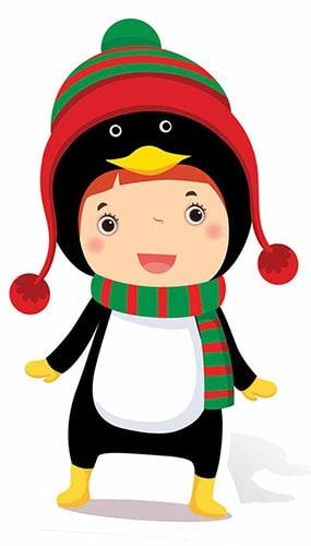 Christmas Penguin Mini Cardboard Cutout - 87cm Product Image