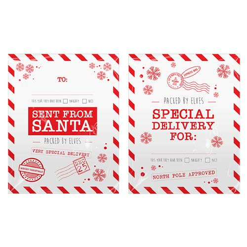 Assorted Christmas Extra Large Printed Santa Sacks 78cm - Pack of 2         Product Image