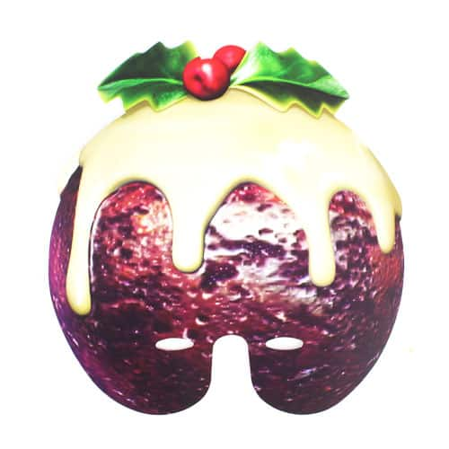 Christmas Pudding Cardboard Face Mask Product Image