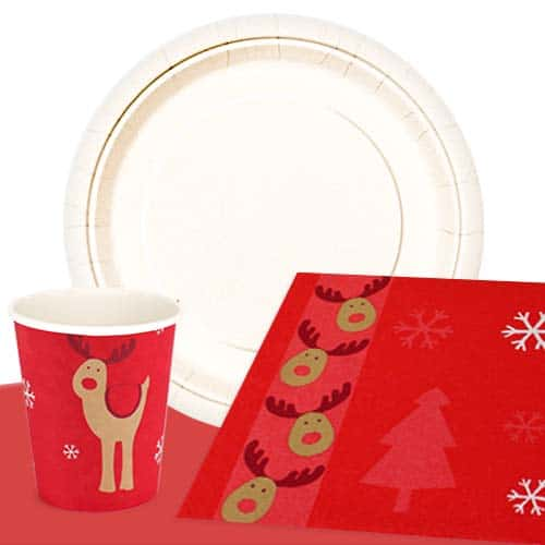 Christmas Rocking Rudolph 8 Person Value Party Pack