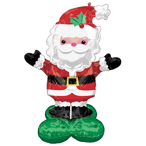 Christmas Santa Airloonz Air Fill Giant Foil Balloon 134cm / 53 in Product Image