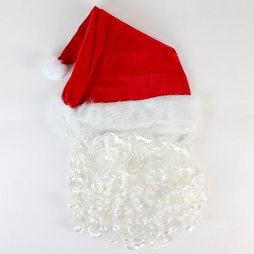 Christmas Santa Hat With Beard Product Image