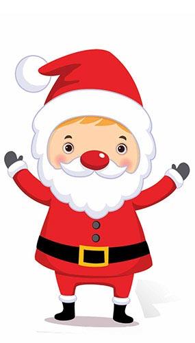 Christmas Santa Mini Cardboard Cutout - 87cm Product Image
