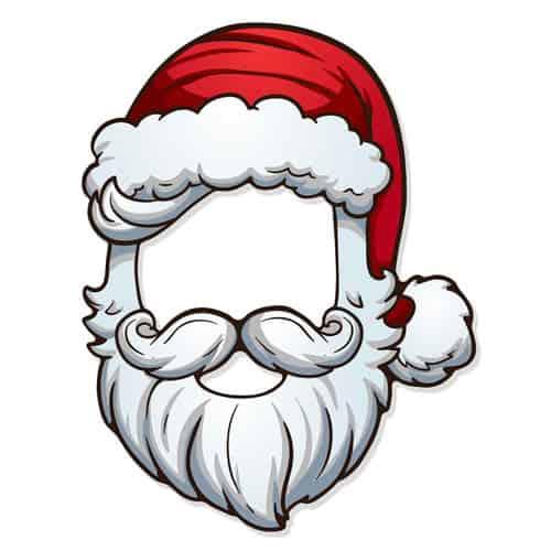 Christmas Santa Open Cardboard Face Mask