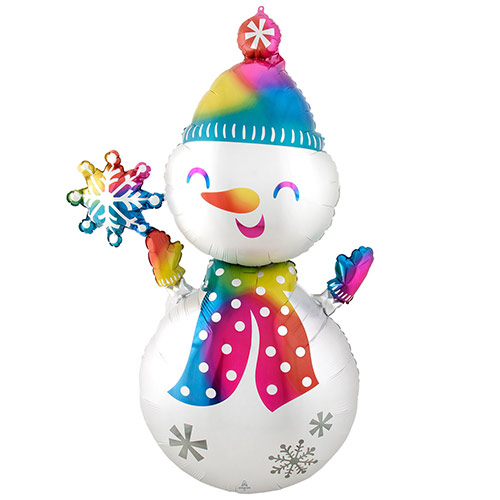 Christmas Satin Infused Snowman Helium Foil Giant Balloon 139cm / 55 in Product Image