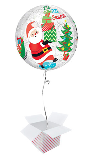 Christmas Scene Orbz Foil Helium Balloon - Inflated Balloon in a Box Product Image