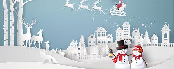 Christmas Scenery Design Medium Personalised Banner – 6ft x 2.25ft