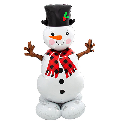 Christmas Snowman Airloonz Air Fill Giant Foil Balloon 139cm / 55 in Product Image