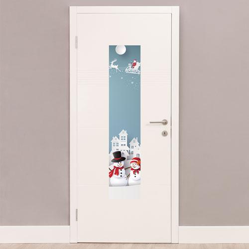 Christmas Scenery Portrait PVC Party Sign Decoration 122cm x 25cm Product Image