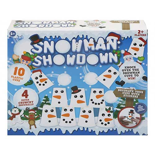 Christmas Snowman Showdown Pyramid Cup Game Product Image