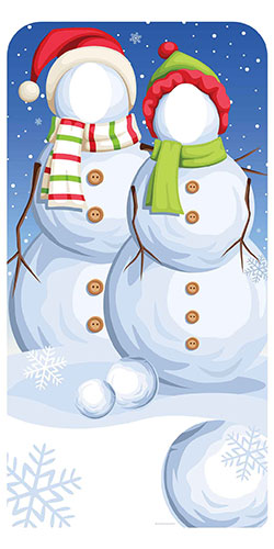 Christmas Snowmen Stand In Lifesize Cardboard Cutout 186cm Product Image