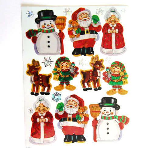 Christmas Stickers Sheets - Pack of 2