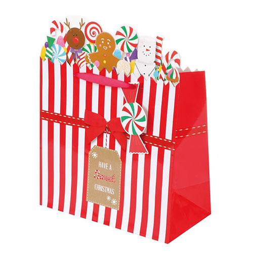 Christmas Sweet Shop Medium Gift Bag 33cm
