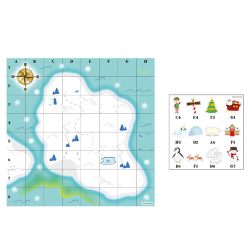 Christmas Treasure Map Party Game Product Image