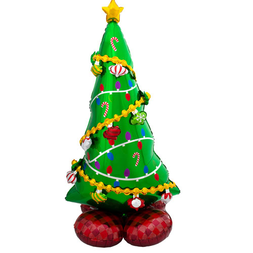 Christmas Tree Airloonz Air Fill Giant Foil Balloon 149cm / 59 in