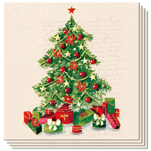 Christmas Tree Design Luncheon Napkins 3 Ply - 33cm - Pack of 20 Product Image