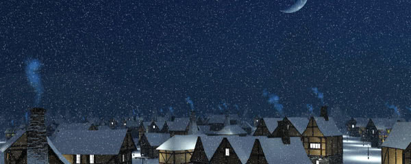 Christmas Village Design Medium Personalised Banner - 6ft x 2.25ft