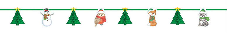 Christmas Winter Friends Honeycomb Garland Decoration 365cm Product Image