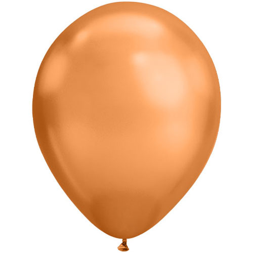 Chrome Copper Round Latex Qualatex Balloon 28cm / 11 in Product Image