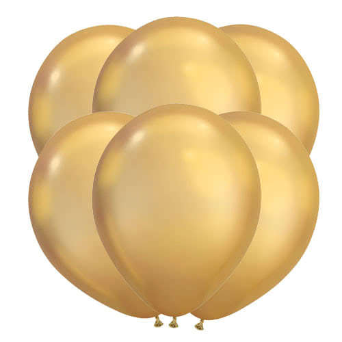 Chrome Gold Latex Qualatex Balloons 28cm / 11 in - Pack of 100 Product Image