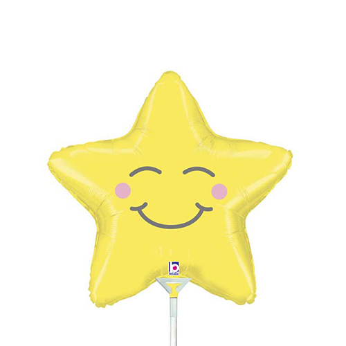 Chubby Star Air Fill Foil Balloon 30cm / 14 in Product Image