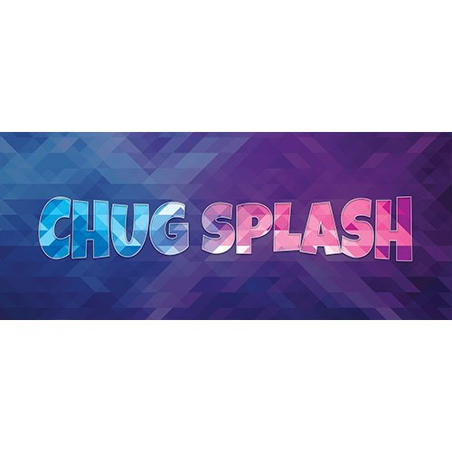 Chug Splash Home Screen Background PVC Party Sign Decoration 60cm x 25cm Product Image