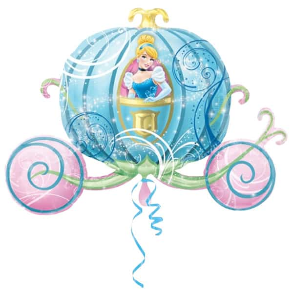 Cinderellas Carriage Helium Foil Giant Balloon 71cm / 28 in Product Image
