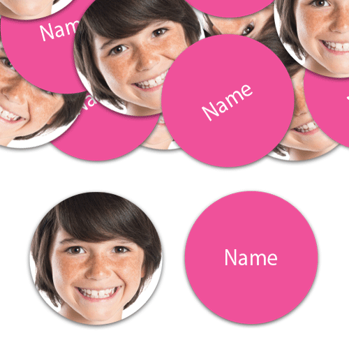 CIRCLE Shape - Hot Pink Personalised Confetti - Pack of 100 Product Image