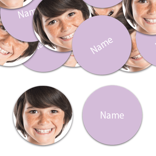 CIRCLE Shape - Lilac Personalised Confetti - Pack of 50 Product Image