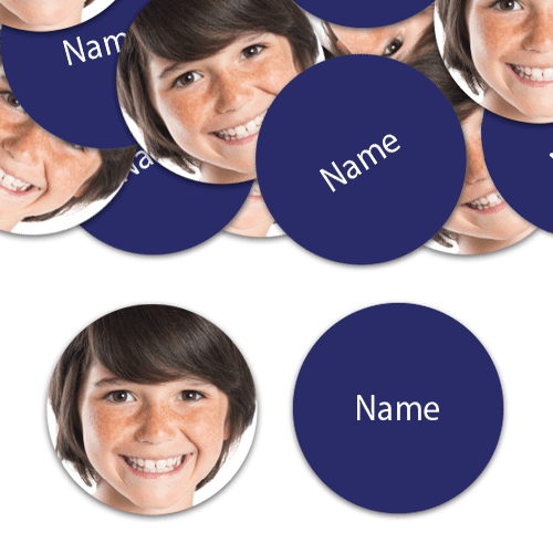 CIRCLE Shape - Navy-Blue Personalised Confetti - Pack of 100 Product Image