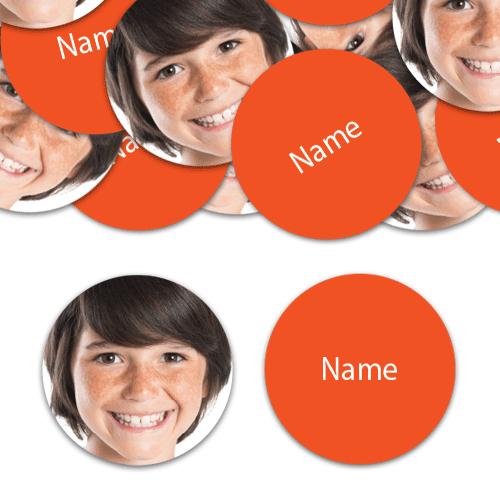 CIRCLE Shape - Orange Personalised Confetti - Pack of 100 Product Image
