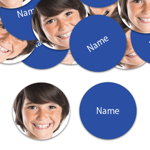 CIRCLE Shape - Royal-Blue Personalised Confetti - Pack of 50