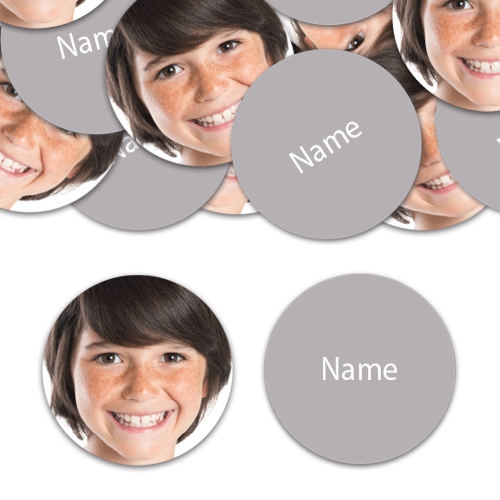 CIRCLE Shape - Silver Personalised Confetti - Pack of 50