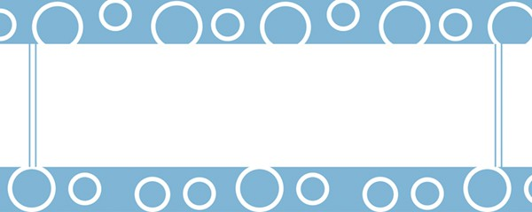 Circles Baby Blue Design Medium Personalised Banner - 6ft x 2.25ft