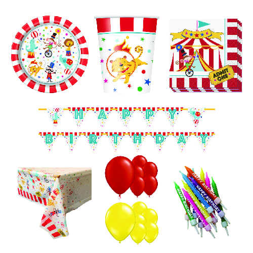 Circus Carnival 16 Person Deluxe Party Pack