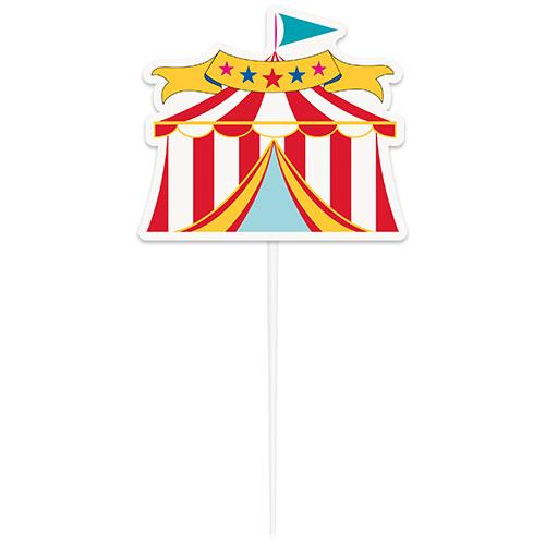Circus Carnival Tent Cake Topper Pick 20cm