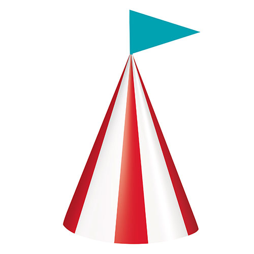 Circus Carnival Party Cone Hats - Pack of 8 Product Image