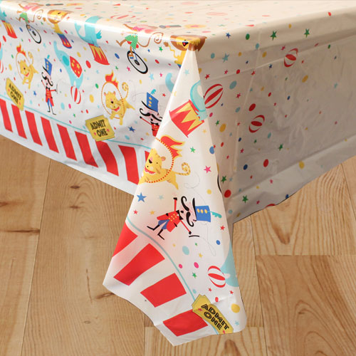 Circus Carnival Plastic Tablecover 213cm x 137cm
