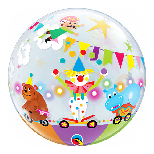 Circus Parade Bubble Helium Qualatex Balloon 56cm / 22 in Product Gallery Image