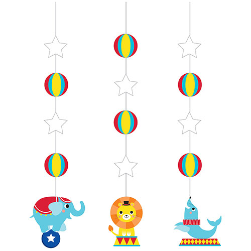 Circus Party Hanging Decorations - Pack of 3 Product Image