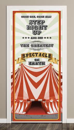 Circus Tent Cream Door Cover PVC Party Sign Decoration 66cm x 152cm Product Image