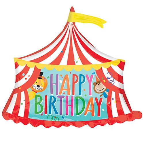Circus Tent Happy Birthday Helium Foil Giant Balloon 71cm / 28  in