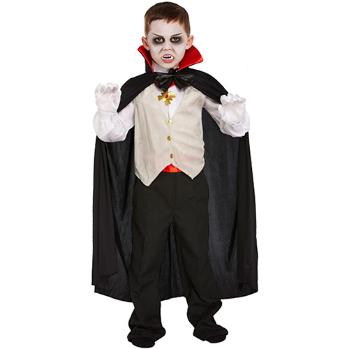 Classic Vampire Costume 4-6 Years Childrens Fancy Dress Product Image
