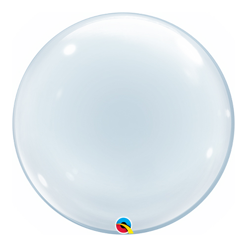 Clear Deco Bubble Helium Qualatex Balloon 51cm / 20Inch Product Image