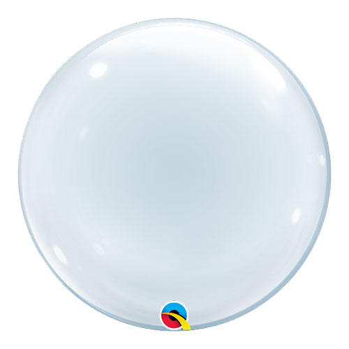 Clear Deco Bubble Helium Qualatex Balloon 61cm / 24Inch Product Image