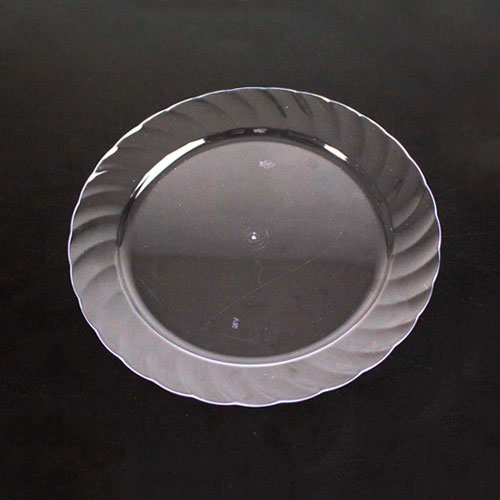 Clear Round Plastic Plates 18cm - Pack of 20
