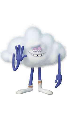 Cloud Guy Trolls World Tour Star Mini Cardboard Cutout 69cm