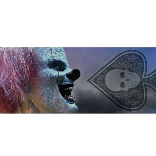 Clown Evil Laughter Halloween PVC Party Sign Decoration 60cm x 25cm Product Image
