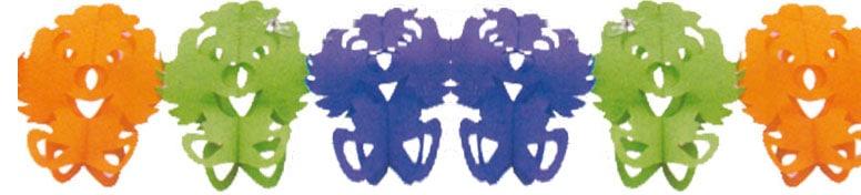 Clown Honeycomb Garland Multi-Colour Paper Decoration - 4 Metre