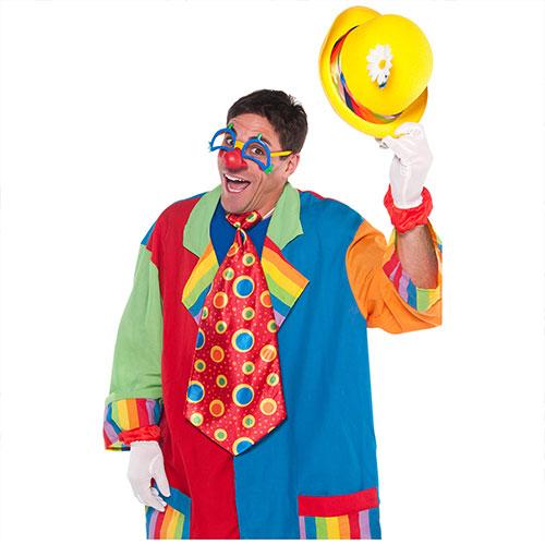 Clown Jumbo Tie Adult Fancy Dress